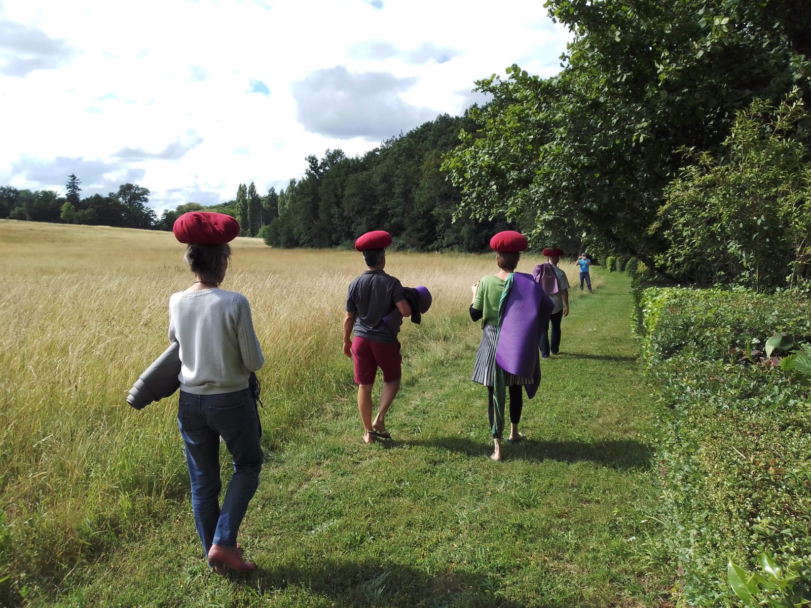 Meditators walking in Bonnevaux WCCM