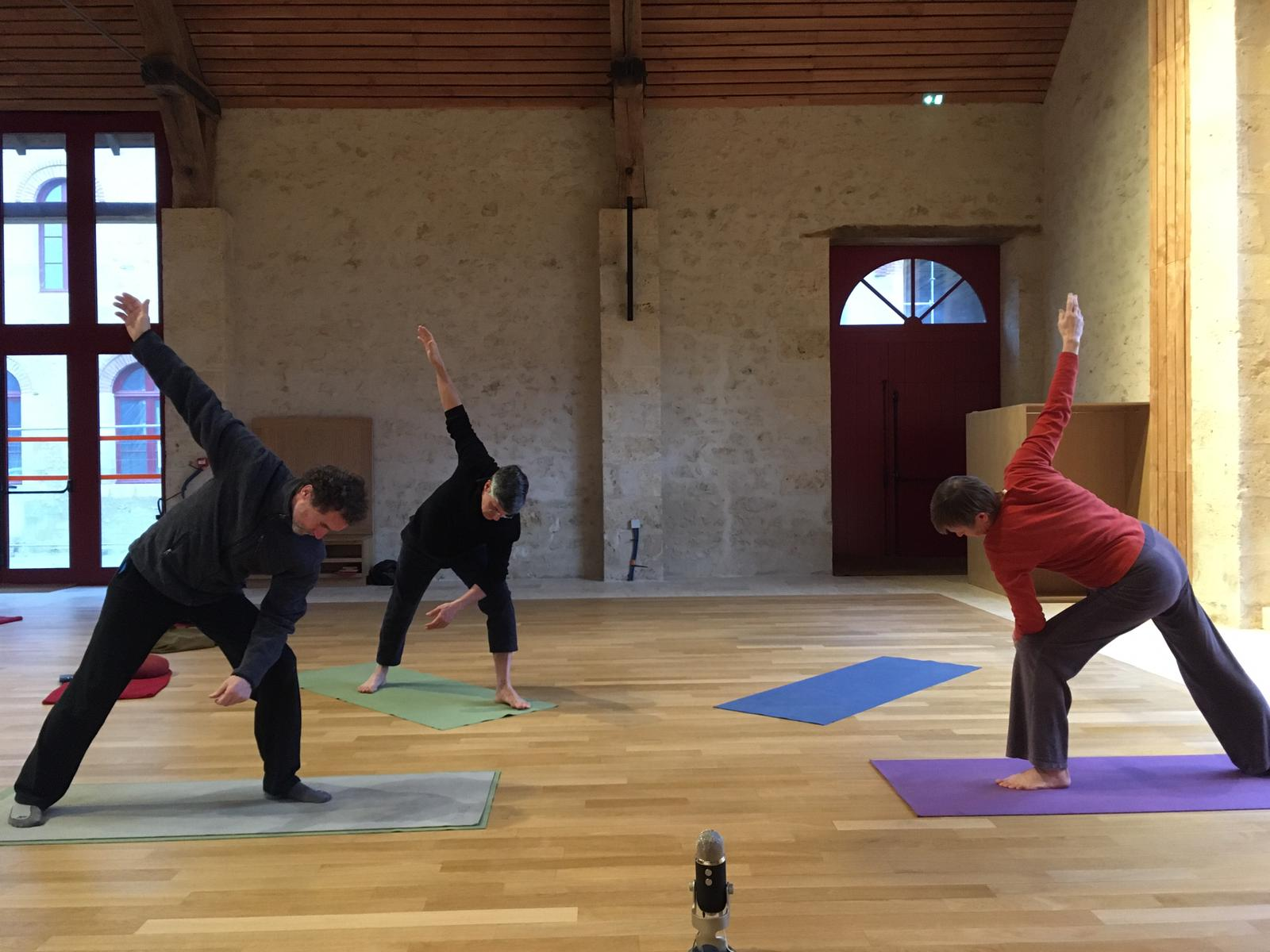 Yoga session at Bonnevaux